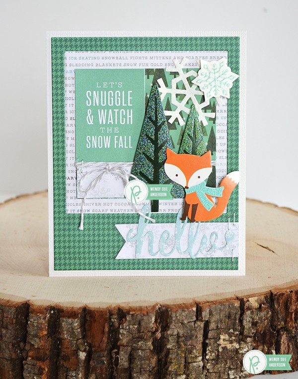 "A trio of picture-perfect holiday cards by @wendysuea using the ""Winter Wonderland"" collection by @pebblesinc"