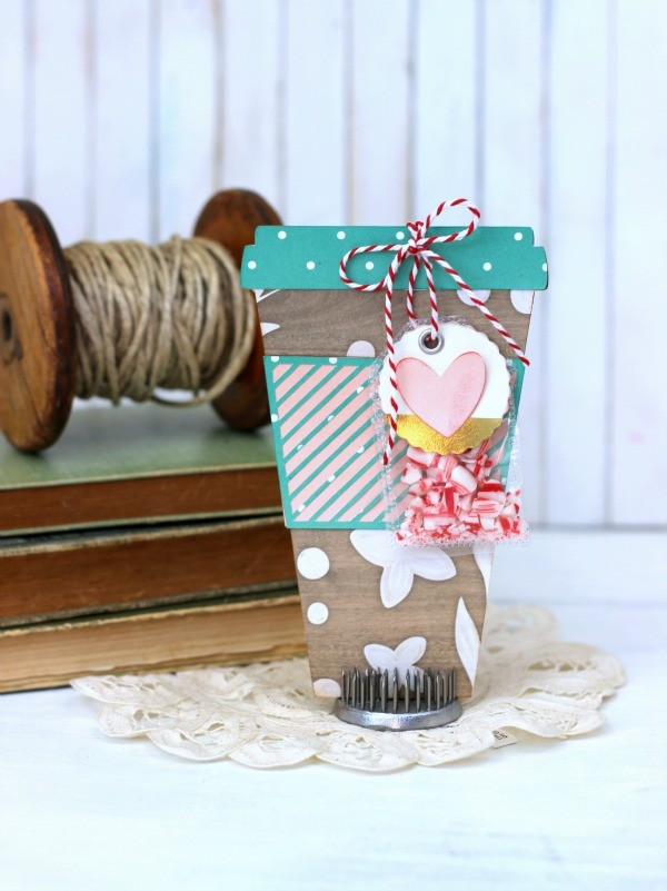 Coffee Cup Card made with @pebblesinc DIY Home collection and @silhouetteamerica created by @ribbonsandglue