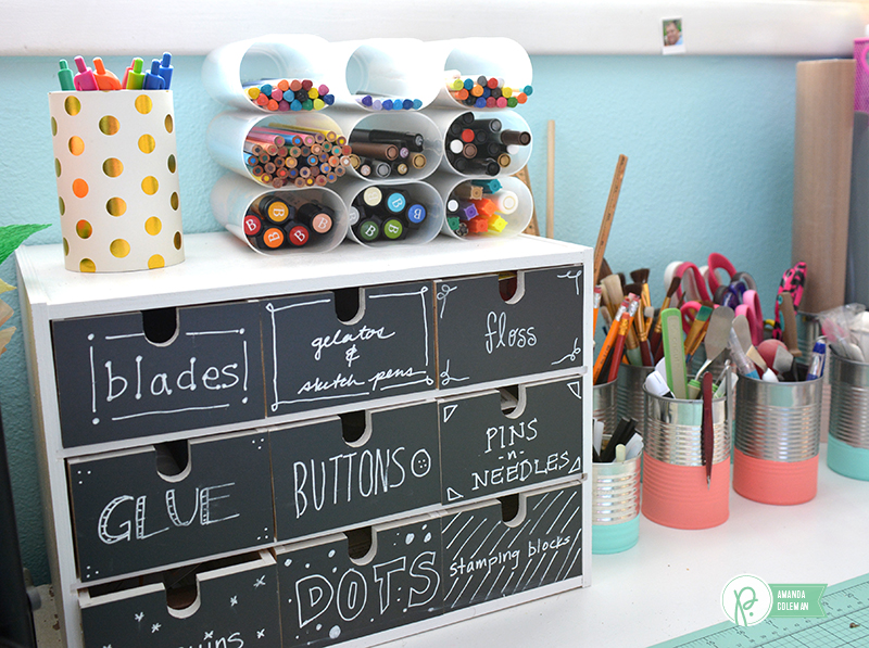 Upcyeled Craft Room Organization by @amanda_coleman1