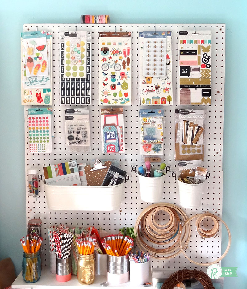 Upcycled Craft Room Organization by @amanda_coleman1