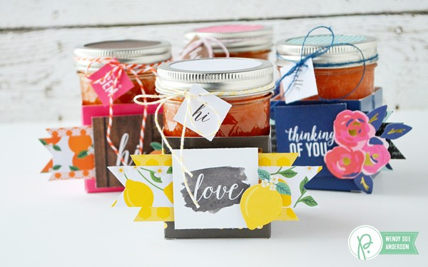 "Quick Gift Boxes by @Wendysuea with the new ""Jen Hadfield - Everyday"" Collection by @pebblesinc."