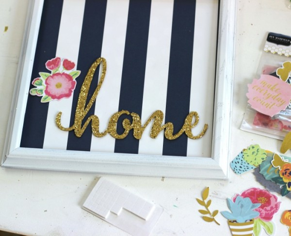 How to make Easy Gallery Art made with @pebblesinc Everyday and DIY Home collection by @ribbonsandglue