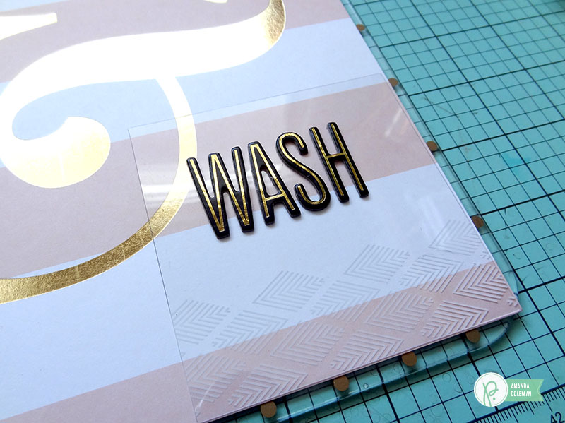DIY Clipboard Bathroom Décor by @amanda_coleman1 using @pebblesinc products