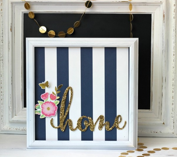 Easy Gallery Art made with @pebblesinc Everyday and DIY Home collection by @ribbonsandglue