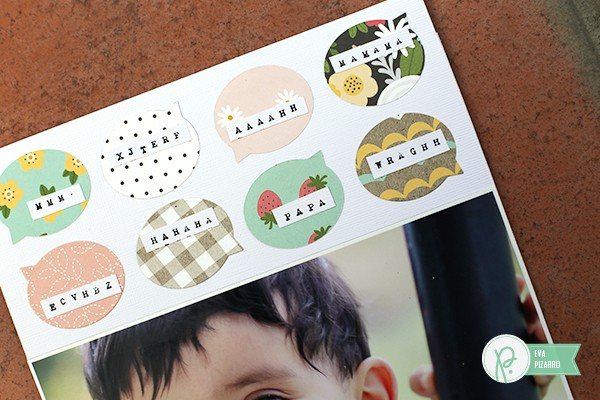 Speech Bubble Layout by @evapizarrov using the new #SpringFling collection by @pebblesinc