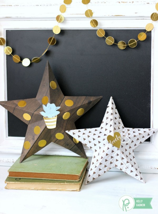 3D Stars are a simple project to add in to your home decor using the @pebblesinc Everyday Collection by @jenhadfield creatd by @ribbonsandglue