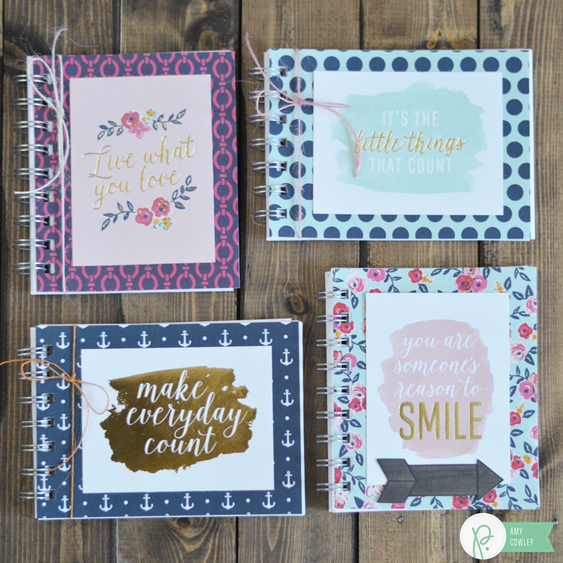 Check out the @pebblesinc blog to see just how easy these Mini Notebooks are to make. @Thehappyscraps shows us how.
