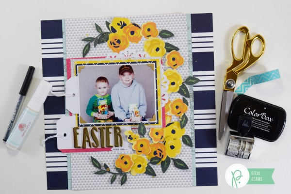 Easter Layout by @jbckadams for @pebblesinc