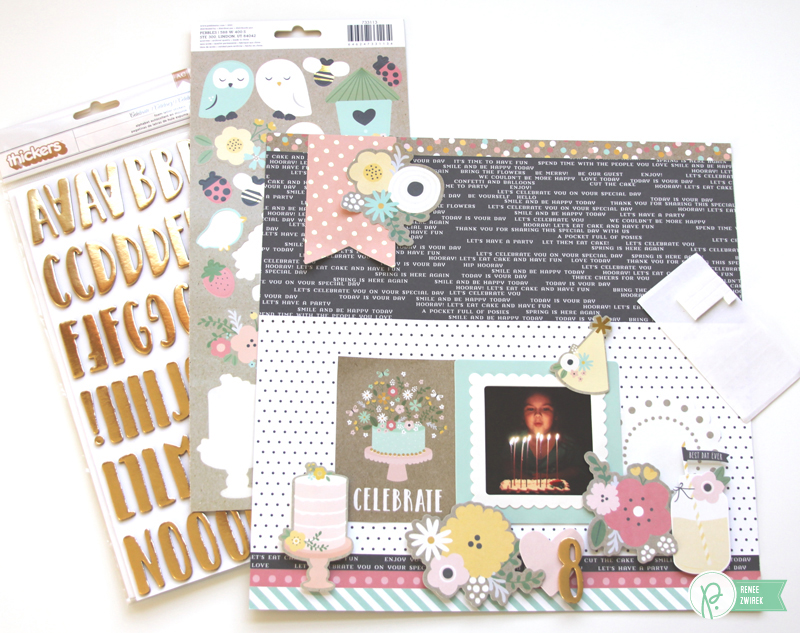 Happy Birthday layout by @reneezwirek using the #SpringFling collection by @pebblesinc