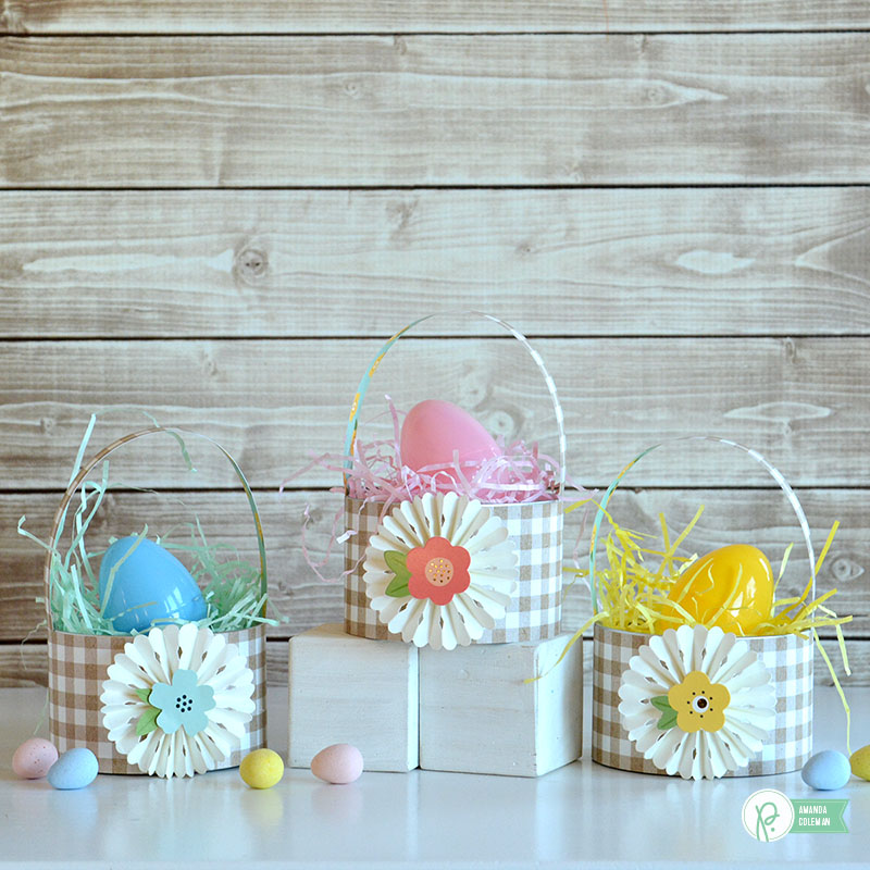 Mini Easter Baskets by @amanda_coleman1 using @pebblesinc Spring Fling collection