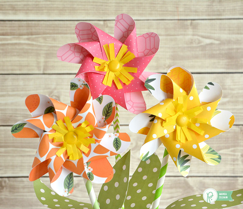 Pinwheel Flowers by @amanda_coleman1 using @pebblesinc Everyday collection