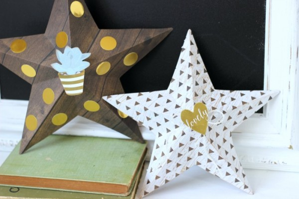 3D Stars are a simple project to add in to your home decor using the @pebblesinc Everyday Collection