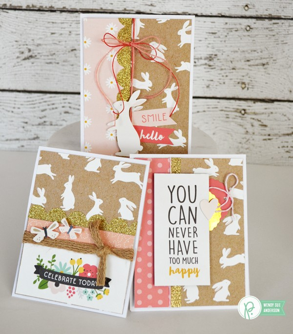 "Easter Card set by @Wendysue with the ""Spring Fling"" collection by @pebblesinc."