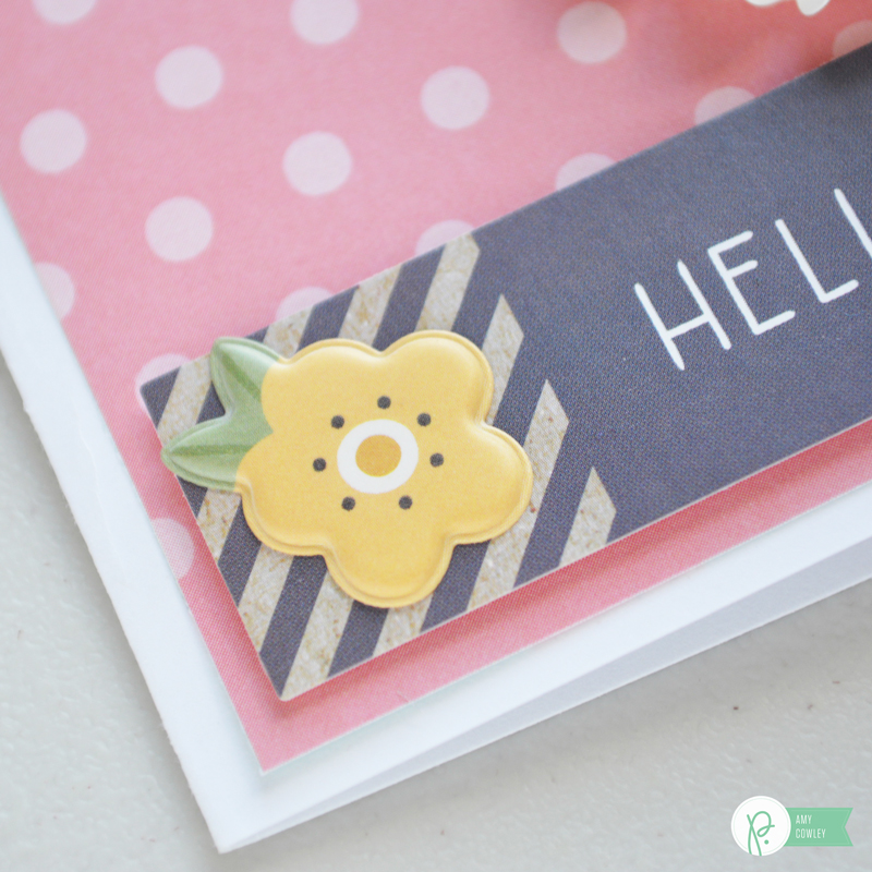 Create some colorful & fun Easter cards with the #springfling collection from @pebblesinc with these tips from @thehappyscraps.