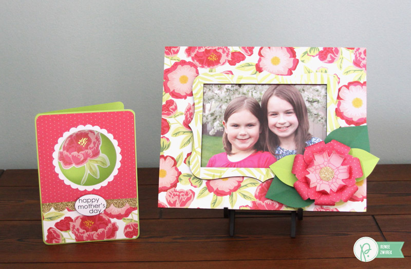 Mother's Day Card and Frame Gift Set by @reneezwirek using the #JHEveryday collection by @pebblesinc and @Tatertots and Jello .com