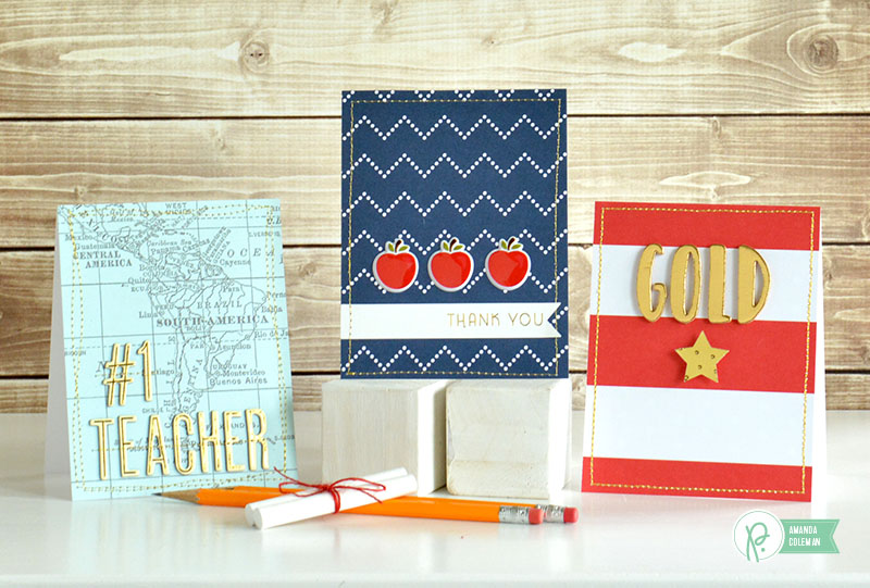 Easy Teacher Appreciation Cards by @amanda_coleman1 using @pebblesinc collections