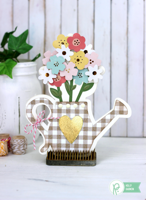 Spring Watering Can Card made with the @pebblesinc Spring Fling collection created by @ribbonsandglue