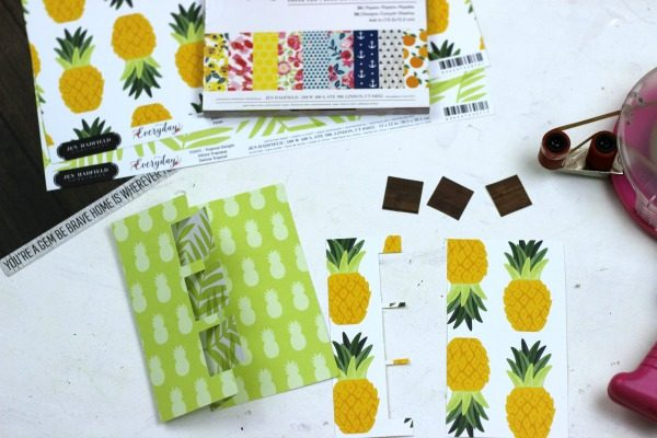 Pineapple Fun Swing Card made with @pebblesinc Everyday collection and @silhouettepins