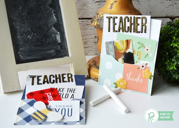 "Teacher Appreciation ""Thank You"" Cards by @wendysue for @PebblesInc"