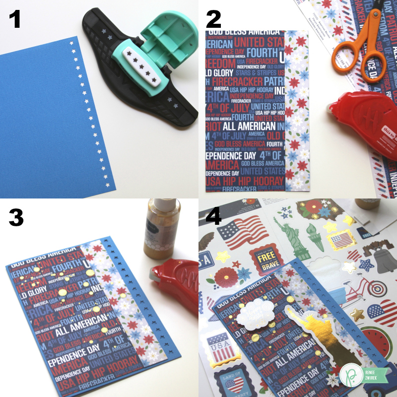Happy 4th of July Cards by @reneezwirek using the America the Beautiful collection by @pebblesinc