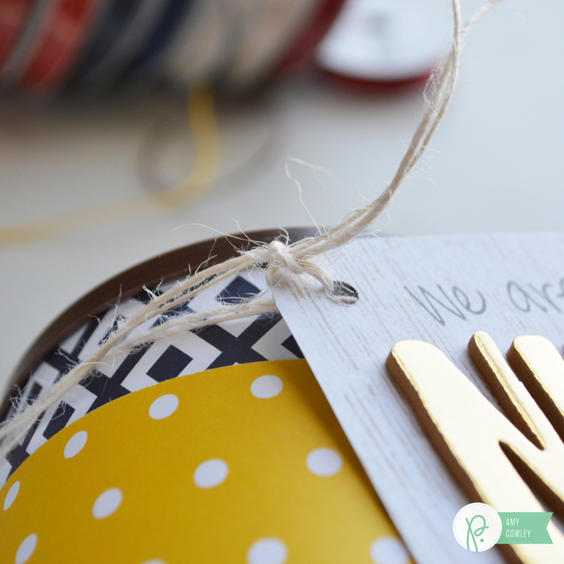Create this Father's Day Quick Gift with supplies from the Jen Hadfield Everyday Collection and the tutorial from @thehappyscraps on the @pebbleinc blog.