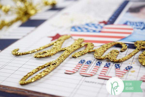 Fourth of July Layout created by @jbckadams for @Pebblesinc #scrapbook #FourthofJuly #PebblesInc