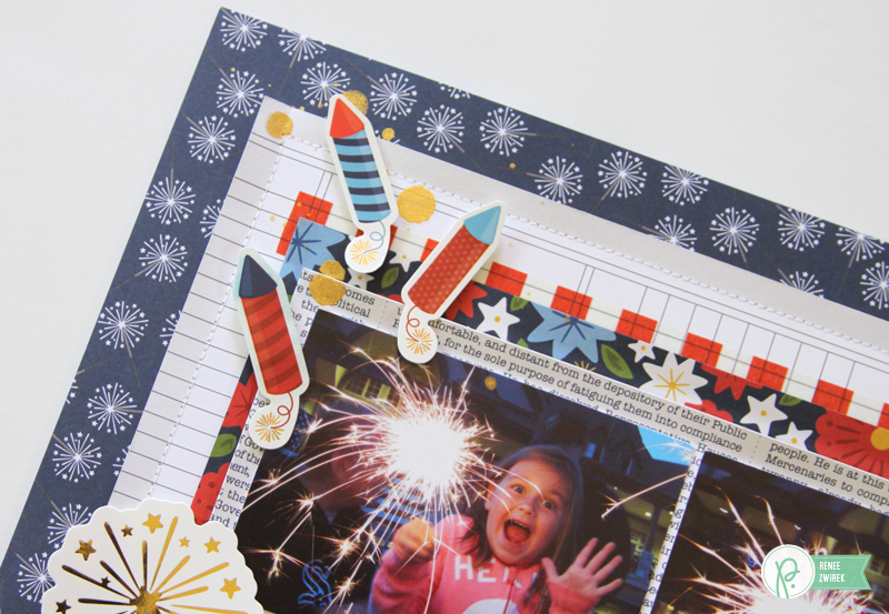 Documenting those favorite 4th of July moments with this Oh My Stars Layout by @reneezwirek using the America the Beautiful collection by @pebblesinc