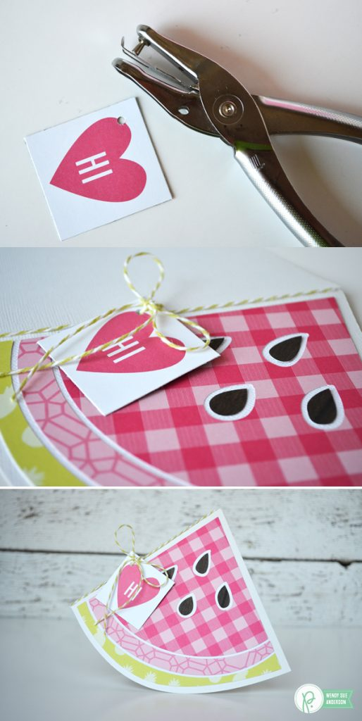 """watermelon shaped summertime card set by @WendySue for @Pebblesinc. with the """"Everyday"""" collection"""