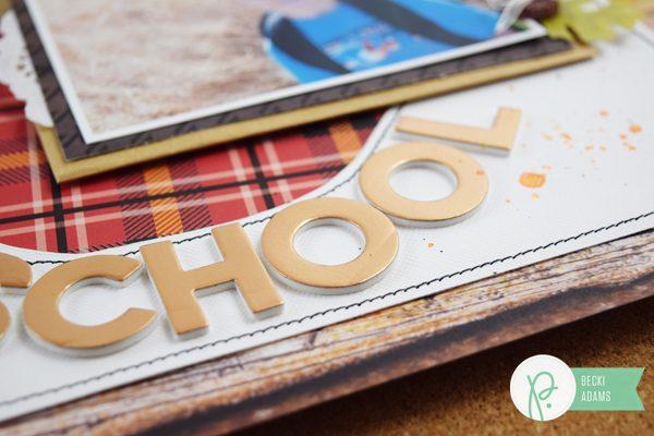 Back to School scrapbooking by @jbckadams for @pebblesinc #backtoschool #scrapbooking #pebblesinc #madewithpebbles