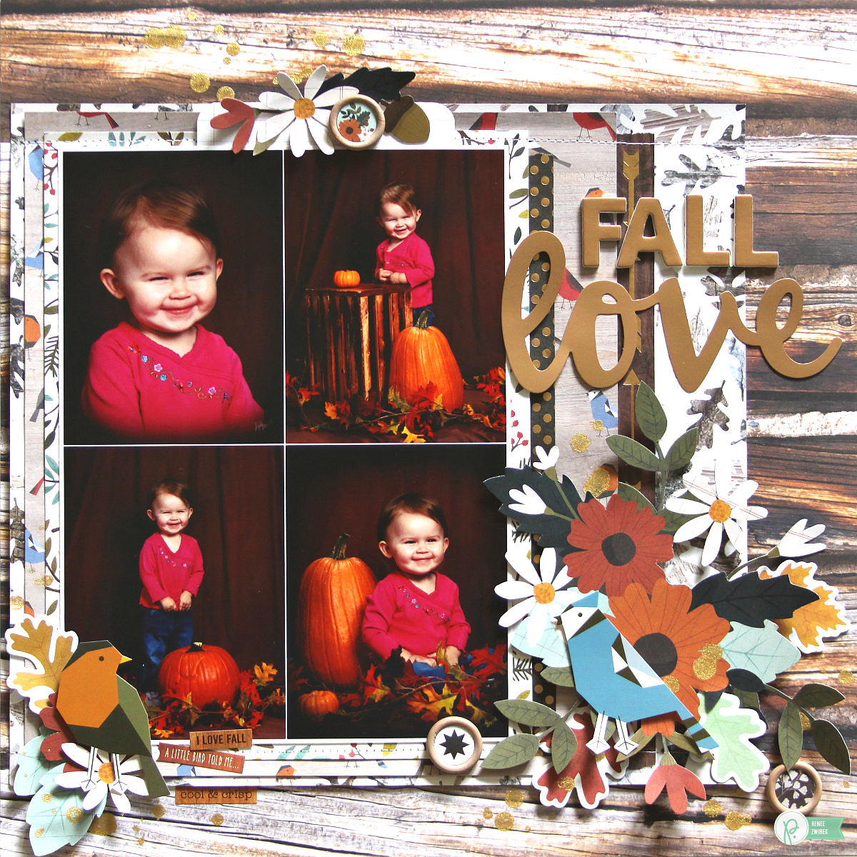 Love the hidden journaling pocket with this Fall Love layout by @reneezwirek using the #pbwarmandcozy collection by @pebblesinc and @Tatertots and Jello .com