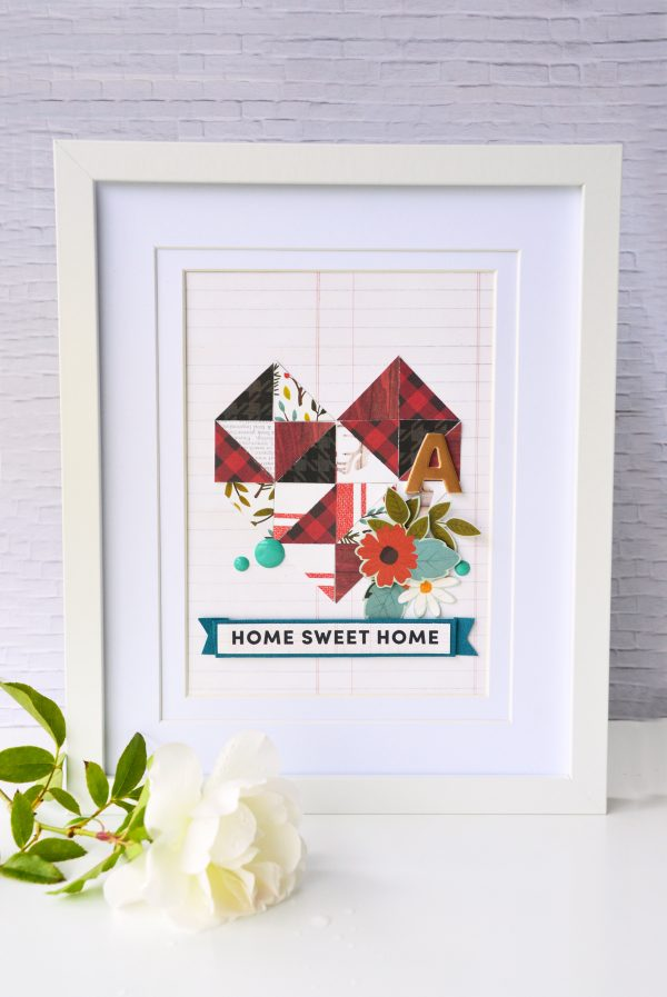 Create a quick and easy house warming gift using geometric shapes as your inspiration and the #warm&cozycollection from @PebblesInc & @leanne_allinson.
