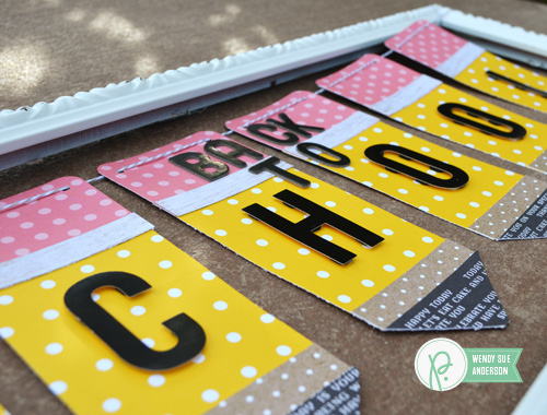 DIY Back-to-School banner by @wendysuea with the #SpringFling and #Everyday collections by @Pebblesinc.