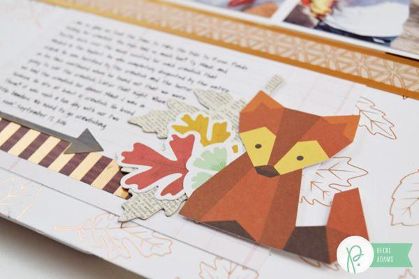 Autumn Layout by @jbckadams for @pebblesinc #scrapbooking #madewithpebbles #Autumnlayout