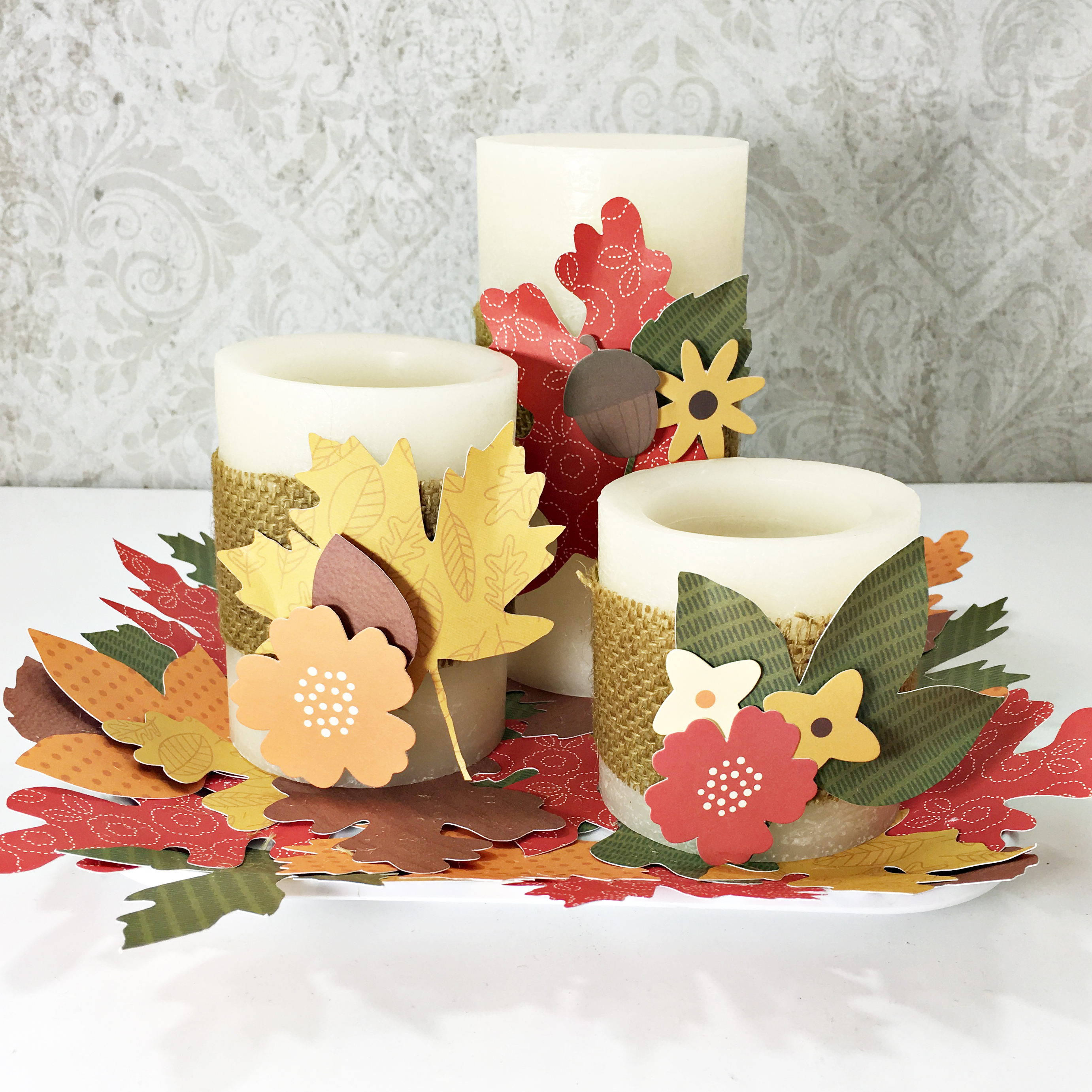 Fall Candles by Heather Leopard