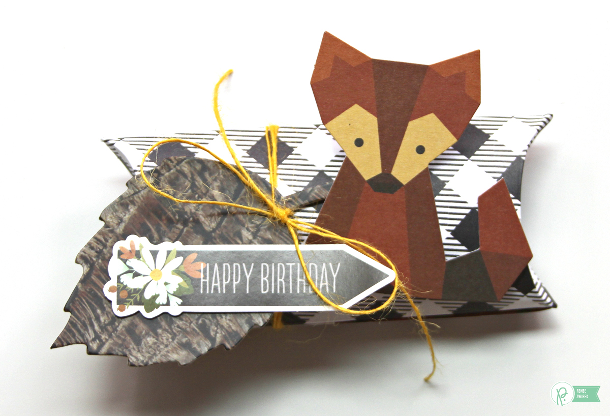 Create perfect gift card holders for fall birthdays with these Happy Birthday Pillow Boxes by @reneezwirek using the #pbwarmandcozy collection by @pebblesinc and @Tatertots and Jello .com
