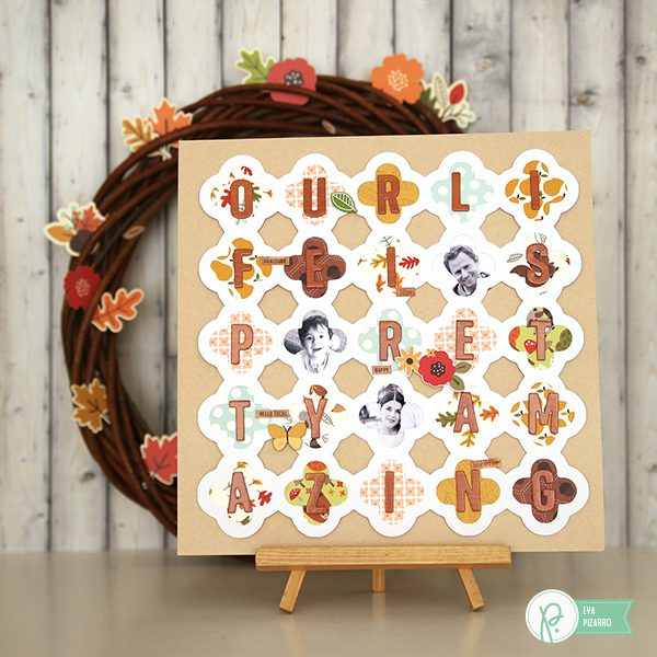 Display your favorite patterns from the #woodlandforest collection by @pebblesinc with this fun layout made by @evapizarrov