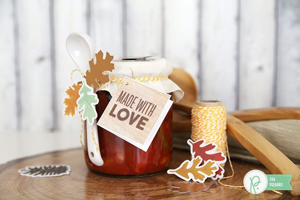 Quickly decorate preserve jars with this tutorial from @evapizarrov using the new #warmandcozy collection by @tatertotsandjello and @pebblesinc