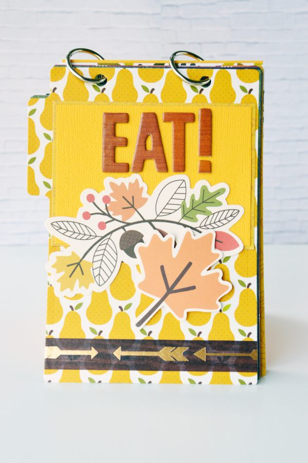 Get ready to share all your favourite recipes in this cute mini file folder made by @leanne_allinson using the @PebblesInc #woodlandforest and #warmandcozy collections.