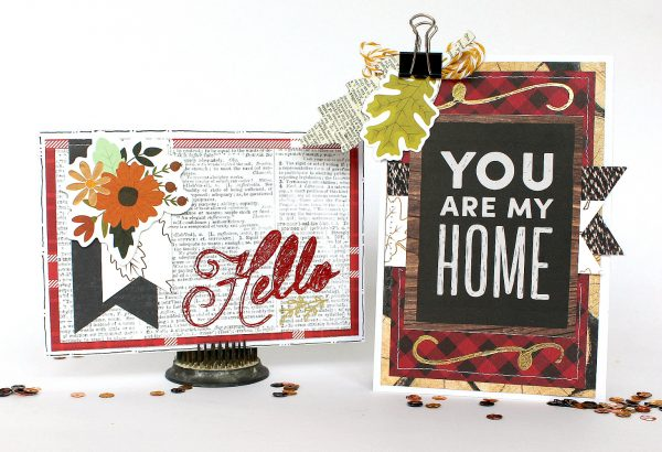 Warm & Cozy Card with Foil Accents by @MoniqueLiedtke using the beautiful #WarmAndCozy collection by @PebblesInc.