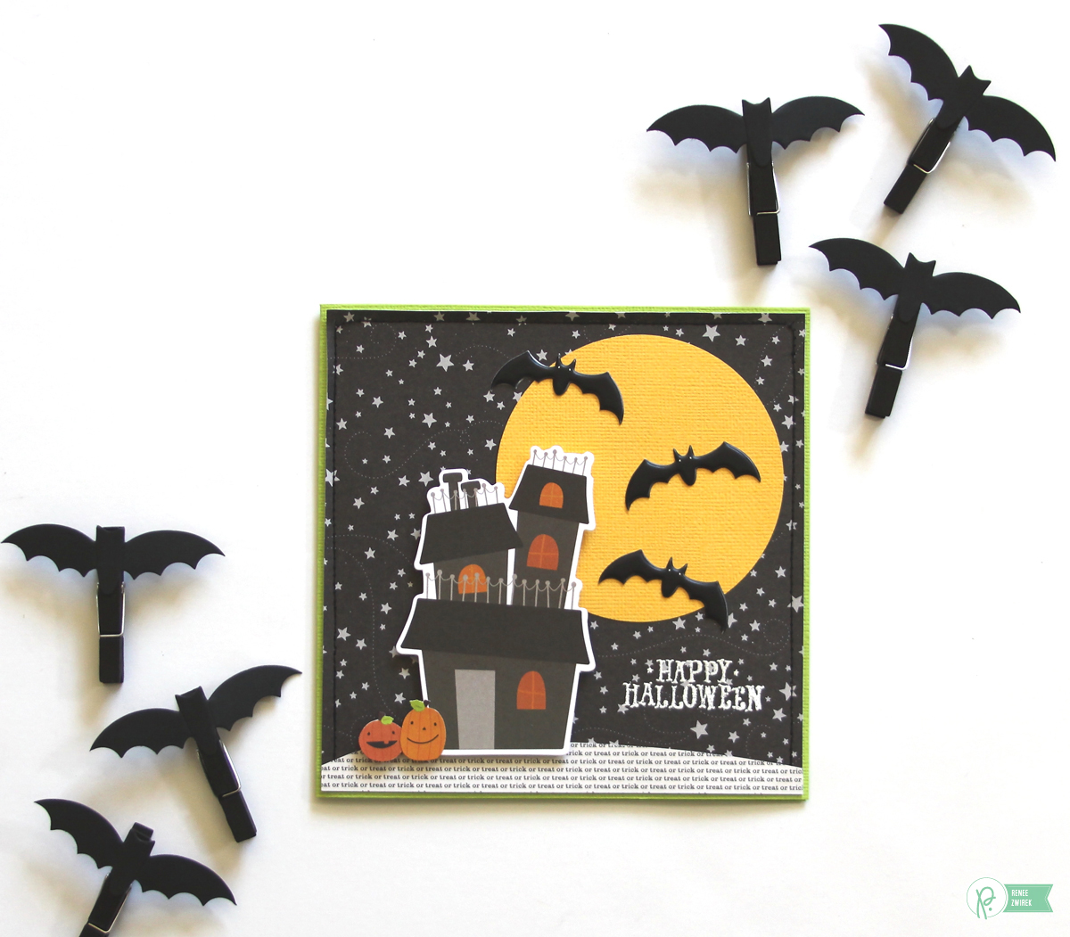 Halloween cards for Teachers by @reneezwirek using the #TrickorTreat collection by @pebblesinc