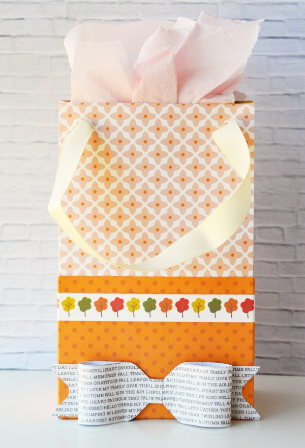 Create fun DIY #patternedpaper gift bags using @PebblesInc gorgeous new #WoodlandForestcollection with @leanne_allinson.