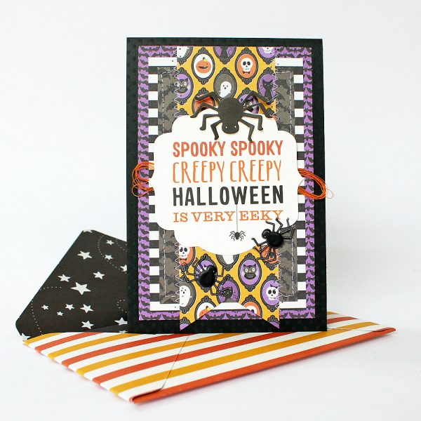 Scary Halloween Cards made by @MoniqueLiedtke using the #TrickOrTreat collection from @PebblesInc.