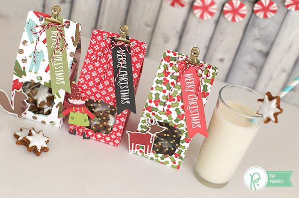 Create these Christmas cookies boxes in minutes with this tutorial from @evapizarro and @pebblesinc new line #HollyJolly