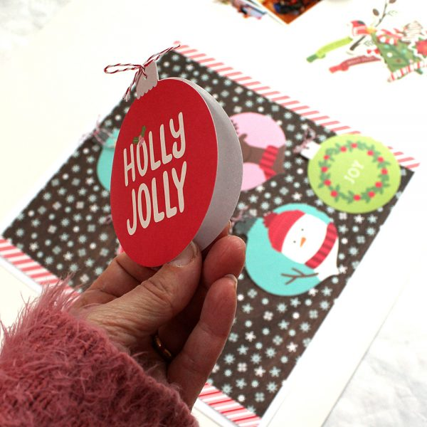 A Holly Jolly Christmas Layout made by @MoniqueLiedtke using the #HollyJolly collection from @PebblesInc.