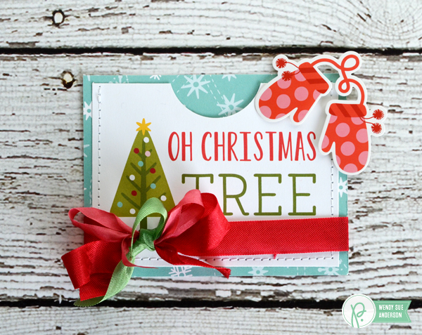"Quick and Easy Gift Card Holders by @wendysue with the ""Holly Jolly"" collection from @PebblesInc"