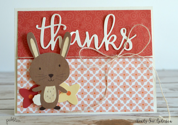 "New Year Resolution: Be Grateful and Express more gratitude. @WendySue created this fun set of ""thank you"" cards with the ""Fall Friends"" collection by @PebblesInc to get started!"