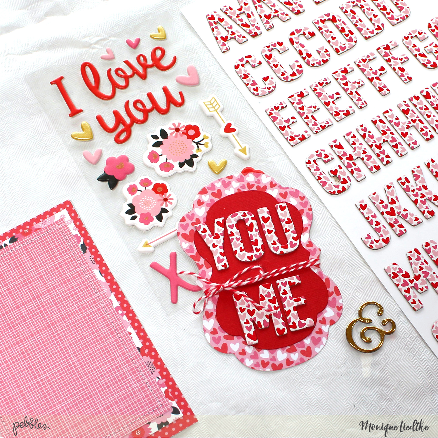 Valentines Home Decor made by @MoniqueLiedtke using the #MyFunnyValentine collection from @PebblesInc.