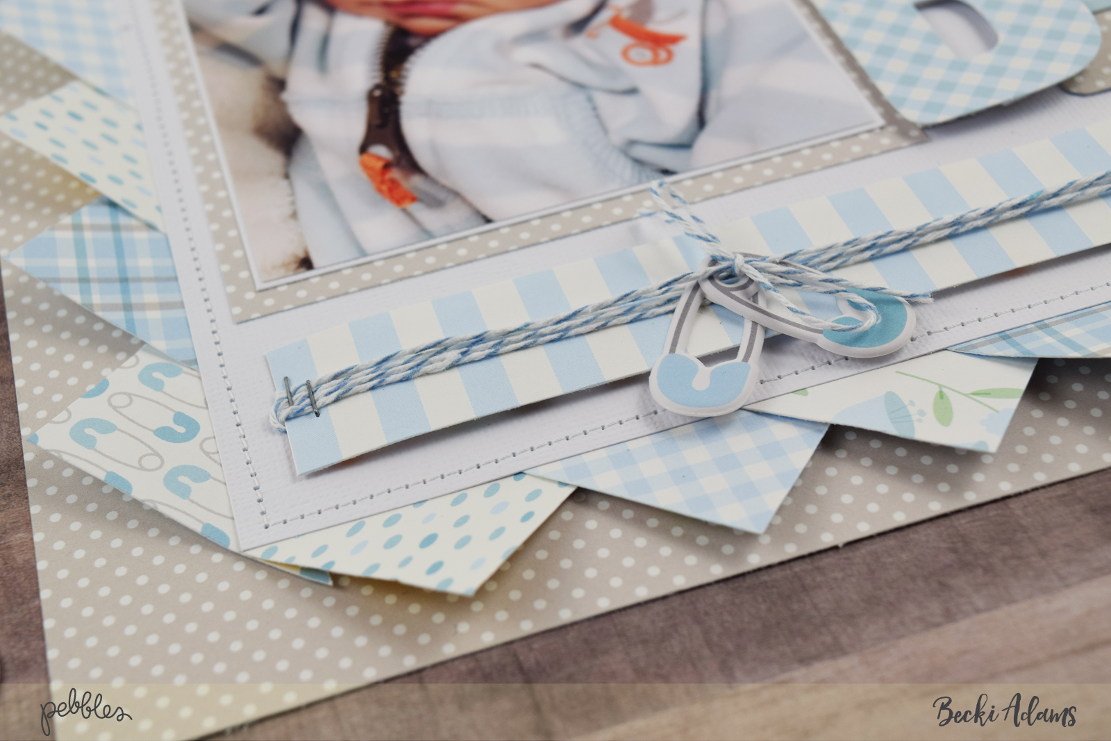 Lullaby Baby Boy by @jbckadams for @pebblesinc #madewithpebbles #scrapbooking #memorykeeping
