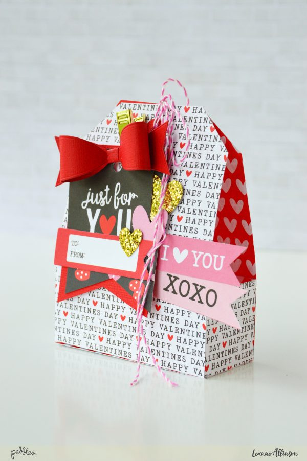 Create clever little treat boxes using @PebblesInc #MyFunnyValentinecollection as shared by @leanne_allinson.