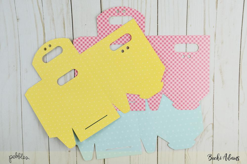 Spring Treat Bags by @jbckadams for @pebblesinc #madewithPebbles #pebblesinc #springDIY